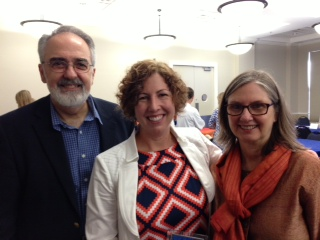 Dean Michael G. Perri, Cindy Prins and Linda Cottler, chair of the department of epidemiology