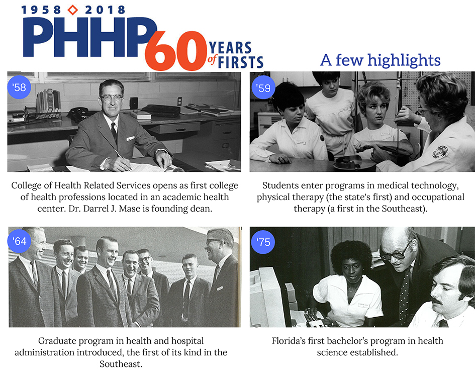 60 years of firsts highlights